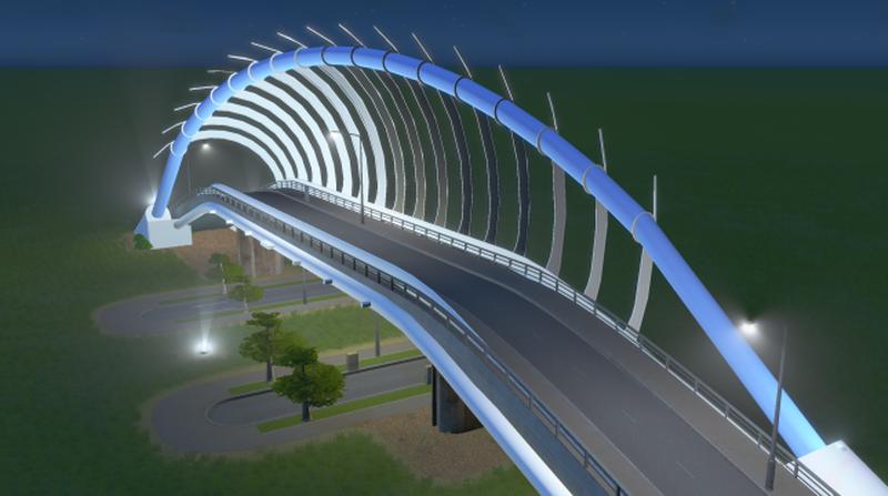 simulation of truss bridge