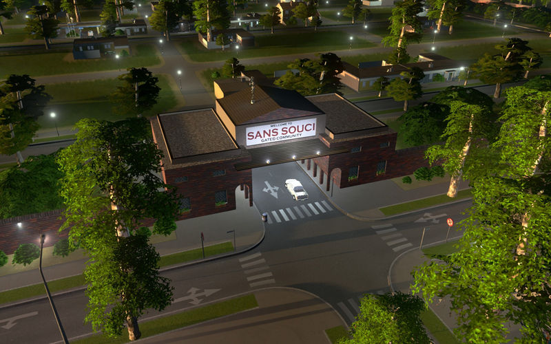 Gated-Community-Entrance-4 - Cities: Skylines Mod
