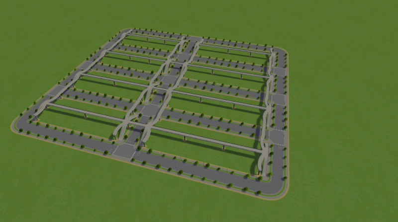 High Density Street Layout - Cities: Skylines Mod download
