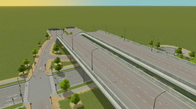 Highway Exit - Cities: Skylines Mod download