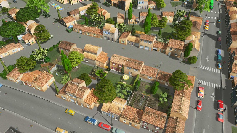 South of France Houses and Terraced - Cities: Skylines Mod