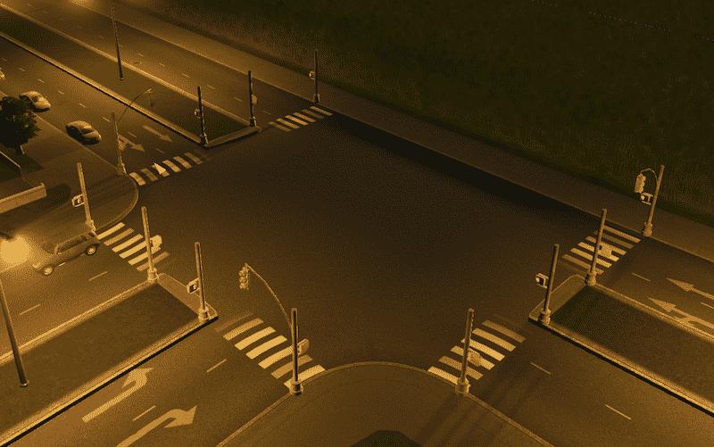 American Traffic Lights - Cities: Skylines Mod download