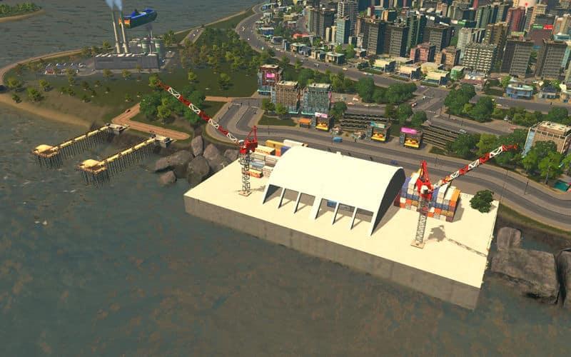 INDUSTRIAL CARGO HARBOR - Cities: Skylines Mod download