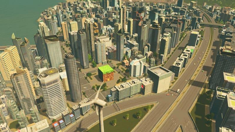 Minecraft Block Plaza - Cities: Skylines Mod download