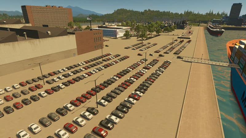 New Car Lot for Port Factory or Dealer - Cities: Skylines