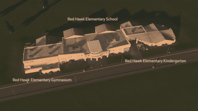 Red Hawk Elementary Gymnasium (No Sub-building) - Cities: Skylines