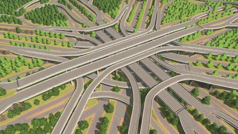 8 Way Highway Interchange - Cities: Skylines Mod download