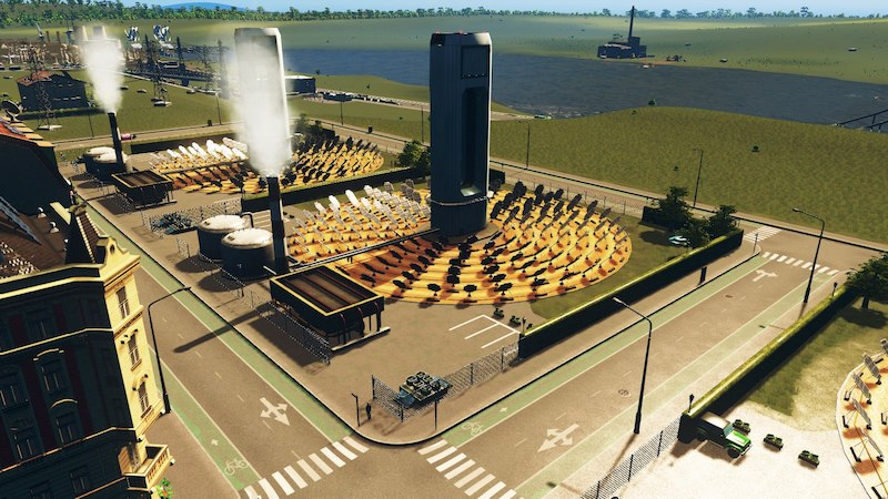 A* Solar Power Plant –8×8 - Cities: Skylines Mod download