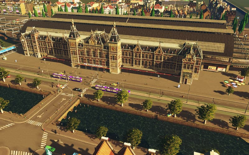 Amsterdam Central Station - Cities: Skylines Mod download
