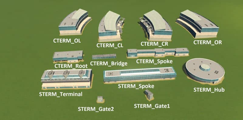 Large Airport Terminal Pack - Cities: Skylines Mod download