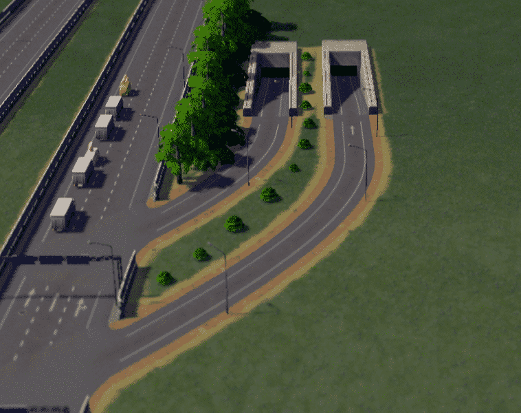 Perfect Tunnels Hwy On/Off Ramp - Cities: Skylines Mod download