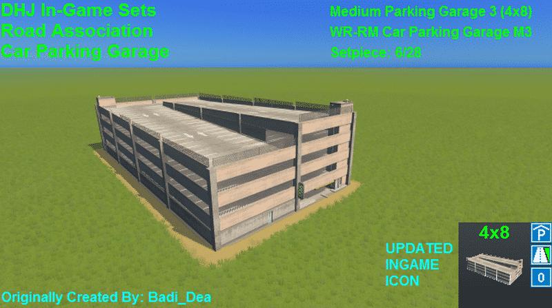 Medium Parking Garage 3 (4×8) - Cities: Skylines Mod download