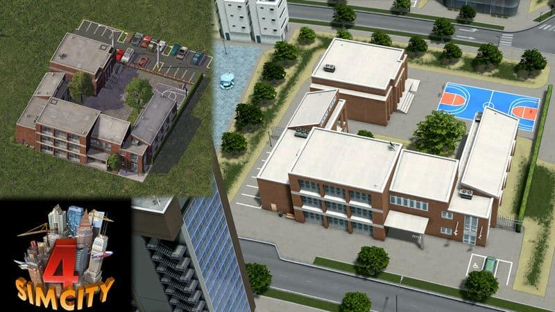 SimCity 4 – Large Elementary School - Cities: Skylines Mod